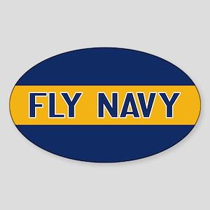 U.S. Navy: Fly Navy (Blue & Gold) Sticker (Oval)