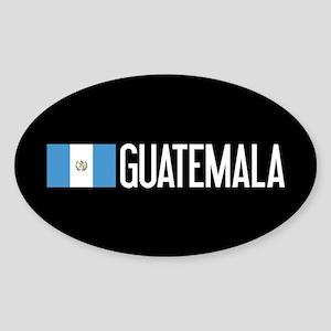Guatemalan Flag & Guatemala Sticker (Oval)