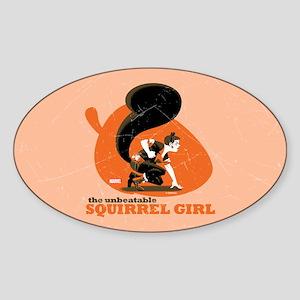 Squirrel Girl Orange Sticker (Oval)