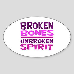 Broken bones Sticker
