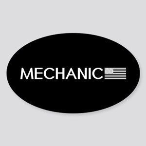 Mechanic: American Flag (White) Sticker (Oval)