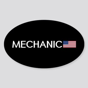Mechanic: American Flag Sticker (Oval)