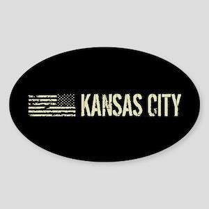 Black Flag: Kansas City Sticker (Oval)