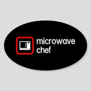 Microwave Chef Sticker (Oval)