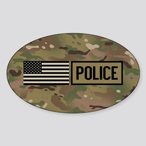 Police: Camouflage Sticker (Oval)