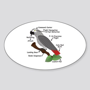 Anatomy of an African Grey Parrot Sticker