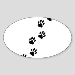Cartoon Dog Paw Track Sticker