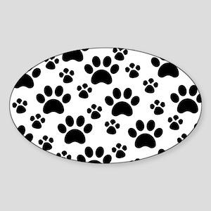 Dog Paws Sticker (Oval)