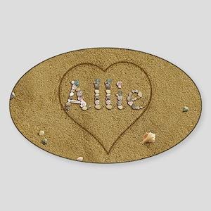 Allie Beach Love Sticker (Oval)