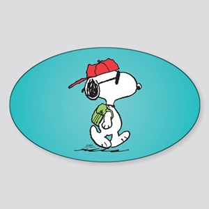 Snoopy Backpack Sticker (Oval)