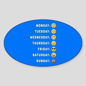 Emoji Days of the Week Sticker (Oval)