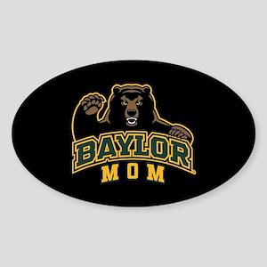 Baylor Mom Bear Sticker (Oval)