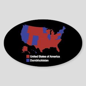 Dumbfuckistan Sticker (Oval)