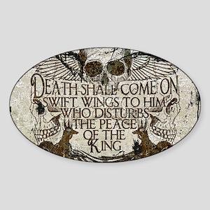 Pharaoh's Curse Sticker (oval)