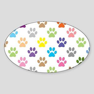 Colorful puppy paw print pattern Sticker