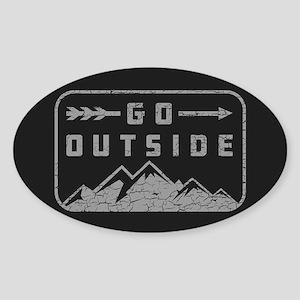 Go Outside Sticker (Oval)