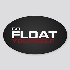 The 100 Go Float Yourself Sticker (Oval)