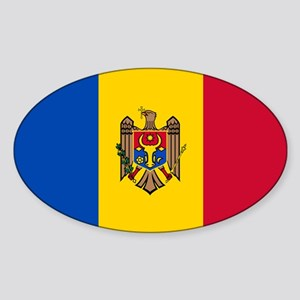 Flag of Moldova Sticker (Oval)