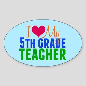 5th Grade Teacher Sticker (Oval)