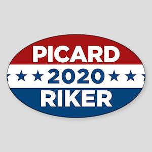 Star Trek Picard Riker 2020 Sticker (Oval)