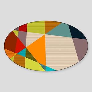 Mid Century Modern Geometric Sticker