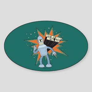 Futurama Bender Shiny Sticker (Oval)