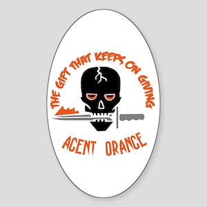 Agent Orange Sticker (Oval)
