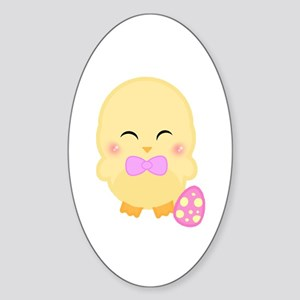 Easter Time Kamo Oval Sticker