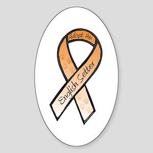 English Setter RibbonE Oval Sticker