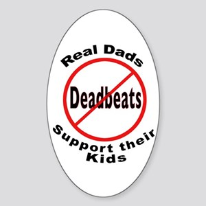 REAL DADS Oval Sticker
