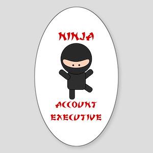Ninja Account Executive Sticker (Oval)