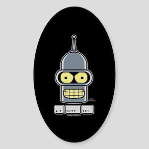 Futurama Alt Shift Kill Sticker (Oval)