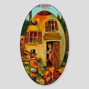 easter-egg-house Sticker (Oval)