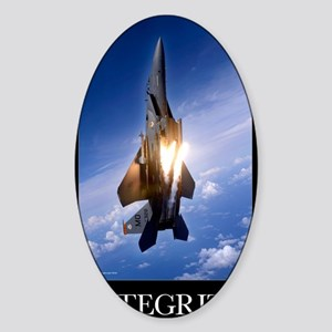 Military Motivational Poster: Integ Sticker (Oval)