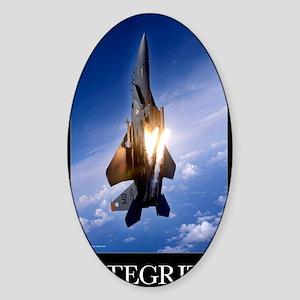 Military Motivational Poster: Integ Sticker (Oval)
