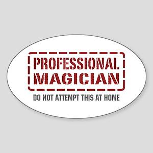 Professional Magician Oval Sticker