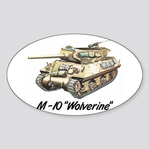 "Oval Sticker w/ M-10 ""Wolverine"""