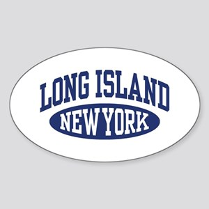 Long Island Oval Sticker