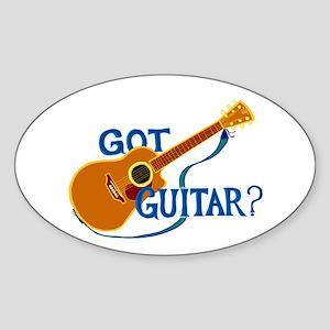 Got Guitar? Sticker (Oval)