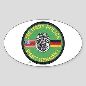 U S Military Police West Germany Sticker (Oval)