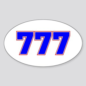 777 GOD Sticker (Oval)