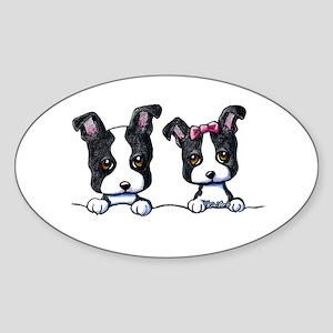 KiniArt Boston Terrier Sticker (Oval)