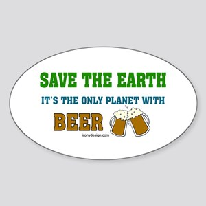 Save The Beer Sticker (Oval)