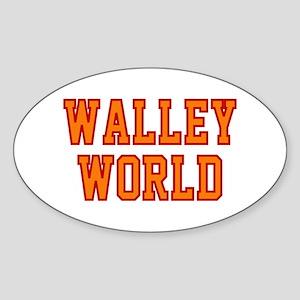 Walley World Orange/Red Logo Sticker (Oval)