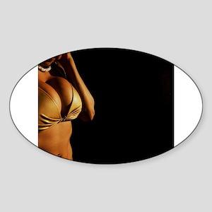 Busty sexy young lady in bikini in Ibiza nightclu
