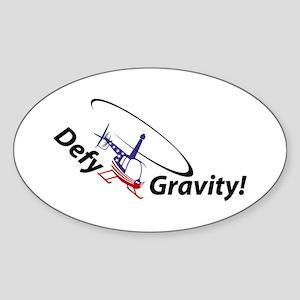 Defy Gravity R44Flag Oval Sticker