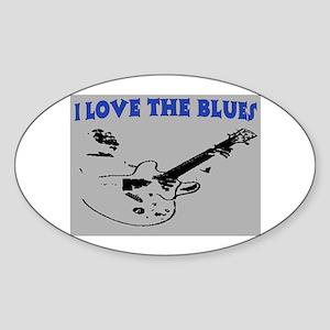 I LOVE THE BLUES Sticker (Oval)