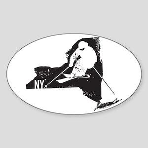Ski New York Sticker (Oval)