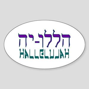 Hallelujah! Oval Sticker