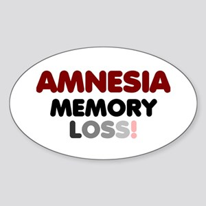 AMNESIA - MEMORY LOSS! Sticker